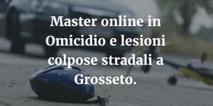 Master online in Omicidio e lesioni colpose stradali a Grosseto.